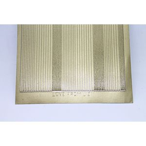 Pin Stripe Peel-Off Stickers - Matt Gold