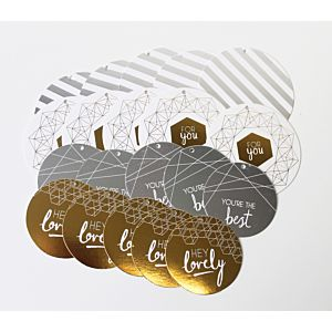 Gold and Silver Foiled Die Cut Tags - LFL August 18 - Add On