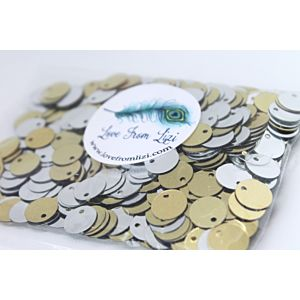 Gold And Silver Disc Sequin Mix - August 18 - Add On