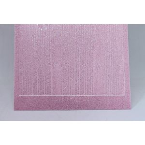 Pin Stripe Peel-Off Stickers - Clear Iridescent Pink Glitter