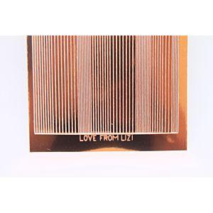 Pin Stripe Peel-Off Stickers - Copper Mirror