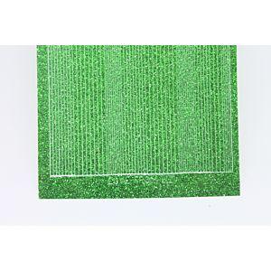 Pin Stripe Peel-Off Stickers - Green Glitter
