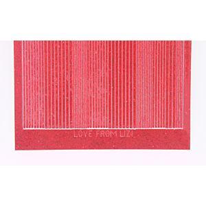 Pin Stripe Peel-Off Stickers - Red Glitter