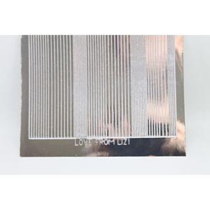 Pin Stripe Peel-Off Stickers - Silver Mirror