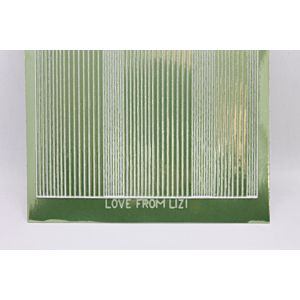 Pin Stripe Peel-Off Stickers - Apple Green Mirror