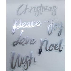 Acetate Christmas Sentiments - Silver