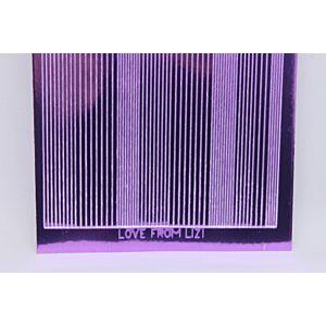 Pin Stripe Peel-Off Stickers - Lilac Mirror