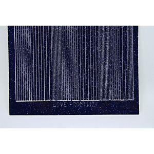 Pin Stripe Peel-Off Stickers - Black Glitter