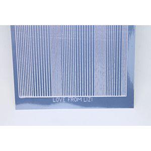 Pin Stripe Peel-Off Stickers - Ice Blue Mirror