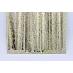 Pin Stripe Peel-Off Stickers - Gold Mirror Moondust