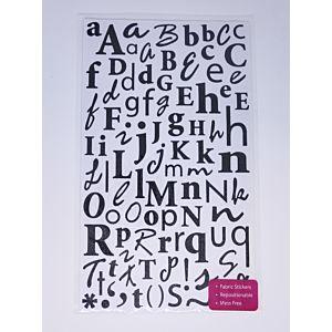 Glitter Alphabet Stickers - Black