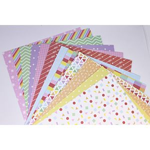 """Rainbow Wishes 8""""x8"""" Patterned Papers"""
