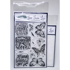 Flutterby - LFL Stamp and Stencil Bundle - December 18