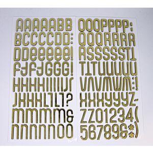 Foam Alphabet Thicker Stickers - Gold