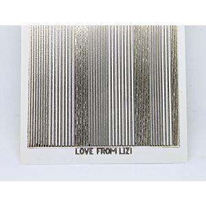 Pin Stripe Peel-Off Stickers - Clear Gold Mirror