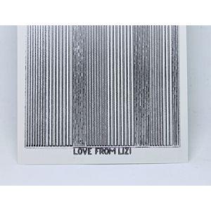 Pin Stripe Peel-Off Stickers - Clear Silver Mirror