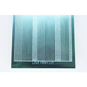 Pin Stripe Peel-Off Stickers - Teal Mirror