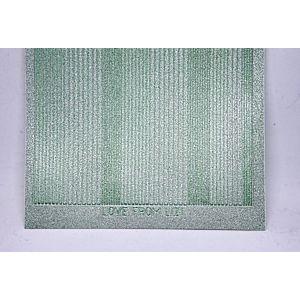 Pin Stripe Peel-Off Stickers - Mint Moondust