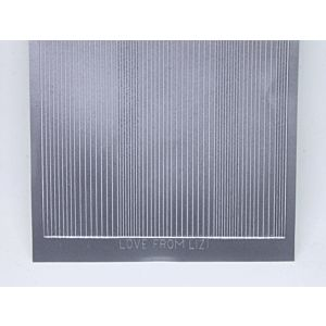 Pin Stripe Peel-Off Stickers - Matt Silver
