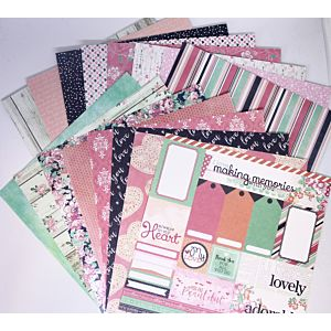 """With Love 8""""x8"""" Patterned Papers"""