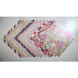 Vintage Blooms - Heavyweight Speciality Papers - 8x8 Inches