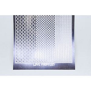 Sway Peel-Off Stickers - Silver Mirror