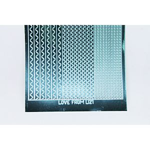 Sway Peel-Off Stickers - Teal Mirror