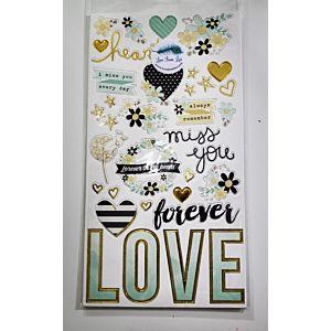 Sending Love Chipboard Stickers - June 19 Add On