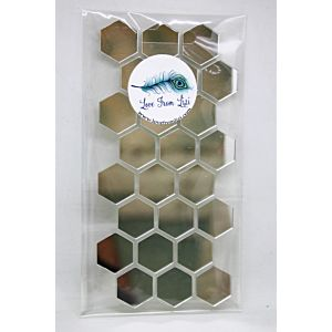 Adhesive Mirror Hexagons - August 19 Add On