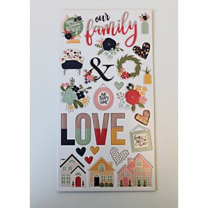 Home Sweet Home Chipboard Stickers - October 19 Add On