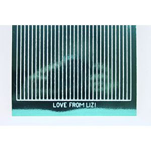 Straight Peel-Off Stickers - Teal Mirror