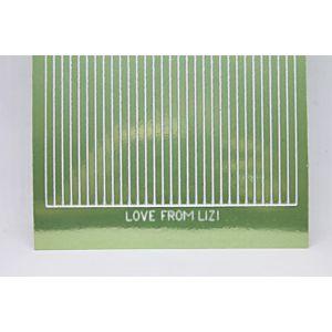 Straight Peel-Off Stickers - Apple Green Mirror