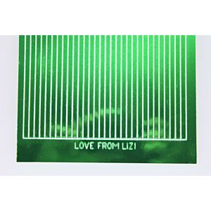 Straight Peel-Off Stickers - Green Mirror