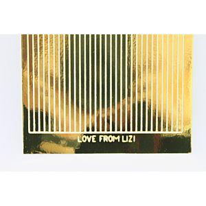 Straight Peel-Off Stickers - Gold Mirror