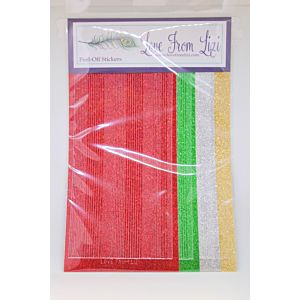 LFL Glitter Pin Stripe - Christmas Essentials Peel Off Pack
