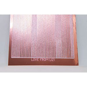 Pin Stripe Peel-Off Stickers - Rose Gold Mirror