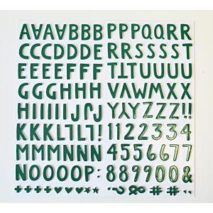 Foam Alphabet  Thicker Stickers - Green