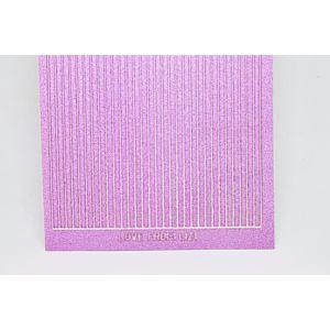 Straight Peel-Off Stickers - Mauve Moondust