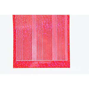Pin Stripe Peel-Off Stickers - Red Holographic
