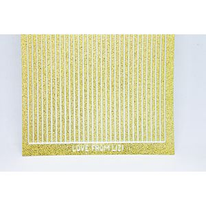 Straight Peel-Off Stickers - Gold Moondust