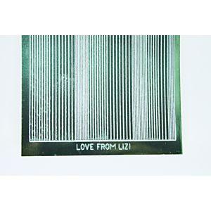 Pin Stripe Peel-Off Stickers - Racing Green Mirror