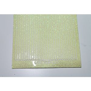 Straight Peel-Off Stickers - Lemon Glitter