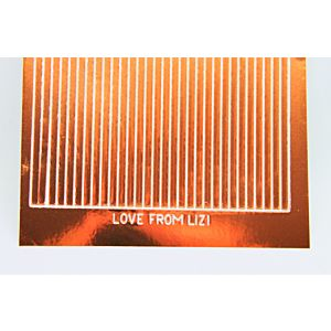 Straight Peel-Off Stickers - Copper Mirror