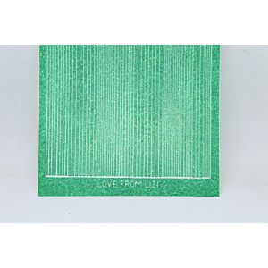 Pin Stripe Peel-Off Stickers - Jade Glitter