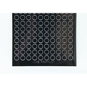 Mini Circle Peel-Off Stickers - Black