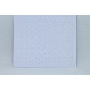 Mini Circle Peel-Off Stickers - White