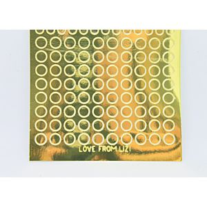 Mini Circle Peel-Off Stickers - Gold Mirror