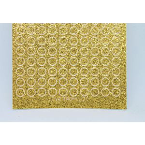 Mini Circle Peel-Off Stickers - Gold Glitter