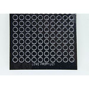 Mini Circle Peel-Off Stickers - Black Glitter