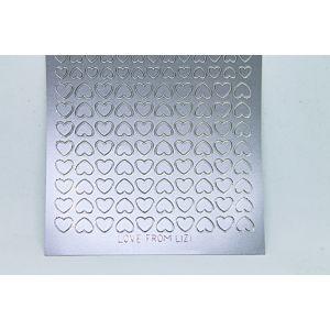 Mini Heart Peel-Off Stickers - Silver